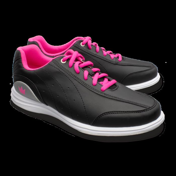 White//Fuschia Renewed Brunswick Girls Mystic Bowling Shoes