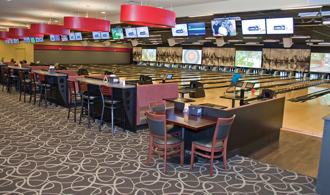 Second view of concourse at Circle Bowl  Entertainment Ledgewood Nj-3