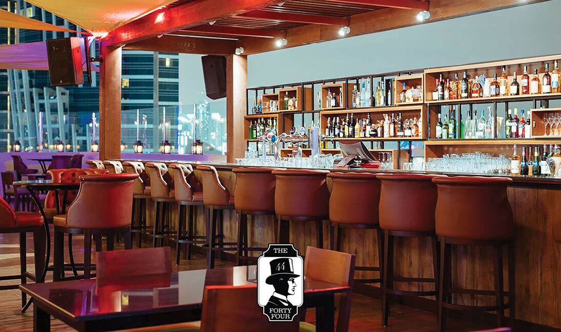 Bar seating Level44 Dubai Al Habtoor-2