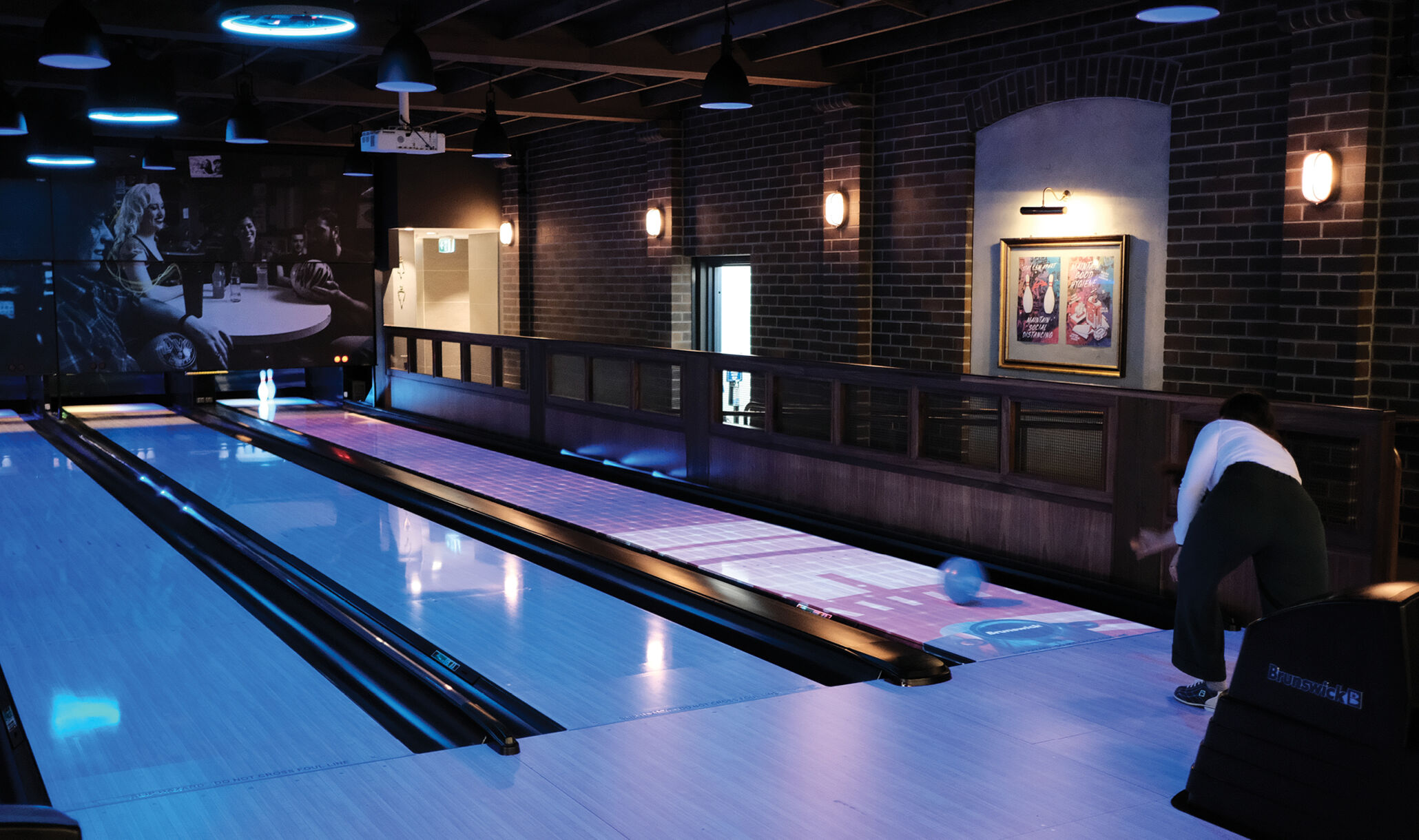 The Attic Sydney Australia - Lanes under black light-1