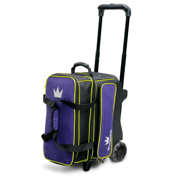 Crown Deluxe Double Roller in Purple and Yellow