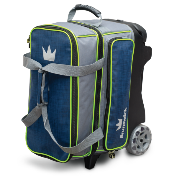 Crown Deluxe Double Roller in Navy and Lime