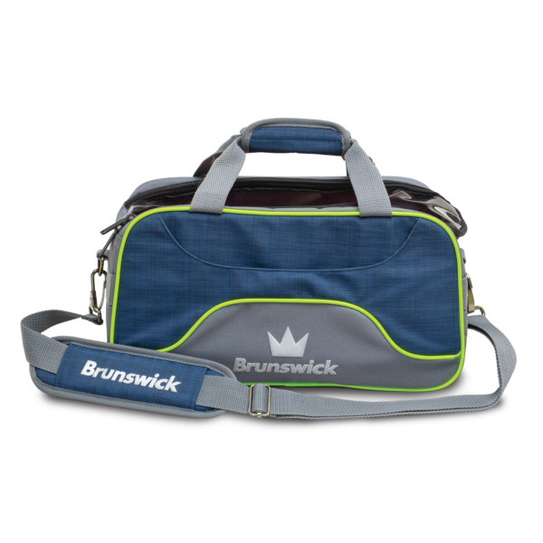 Crown Deluxe Double Tote in Navy and Lime