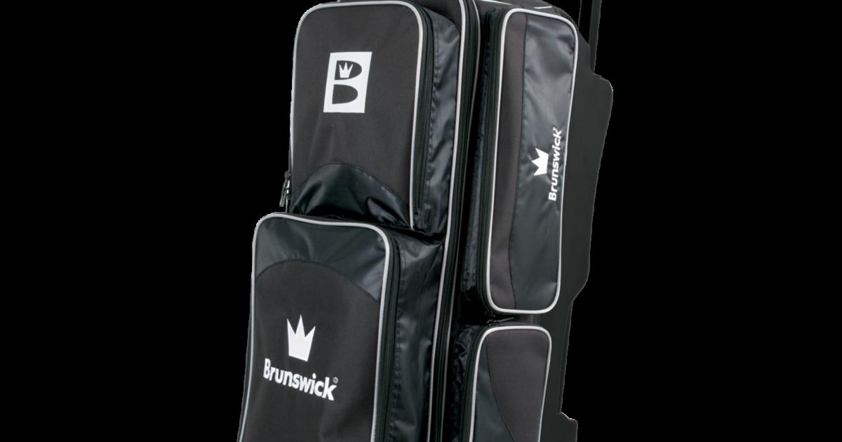 Brunswick EDGE Premium 2 Ball Roller Bowling Bag 5-Inch Wheels Color Silver