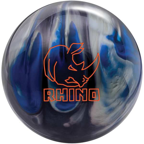Rhino Black Blue Silver bowling ball