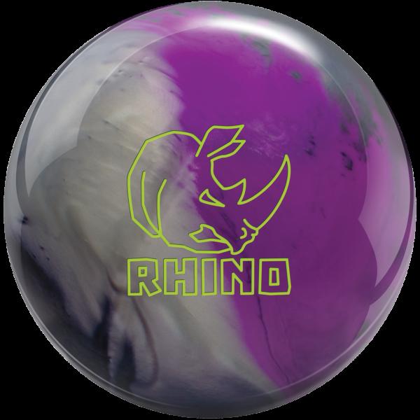 Rhino Charcoal Silver Violet bowling ball