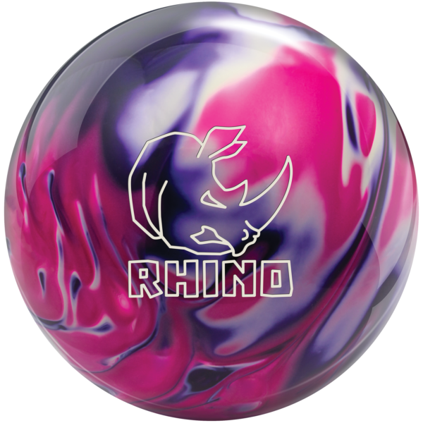 Rhino Purple Pink White bowling ball