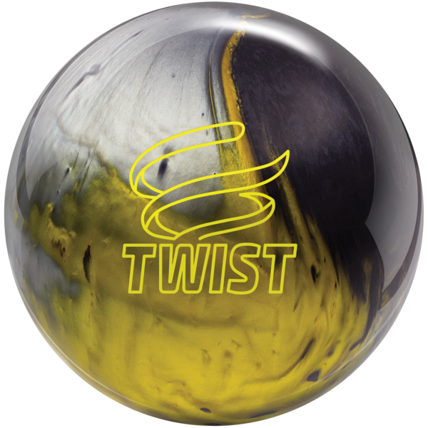 Twist Black Gold Silver bowling ball