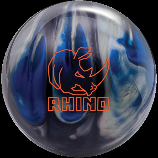 Rhino Black Blue Silver bowling ball