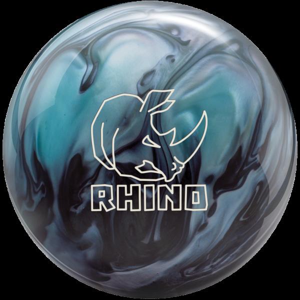 Rhino Metallic Blue Black bowling ball
