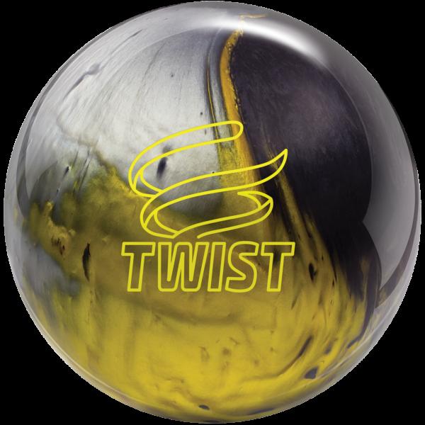 Twist Black Gold Silver bowling ball