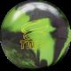 Twist Neon Green Black Ball, for Twist™ - Neon Green / Black (thumbnail 1)