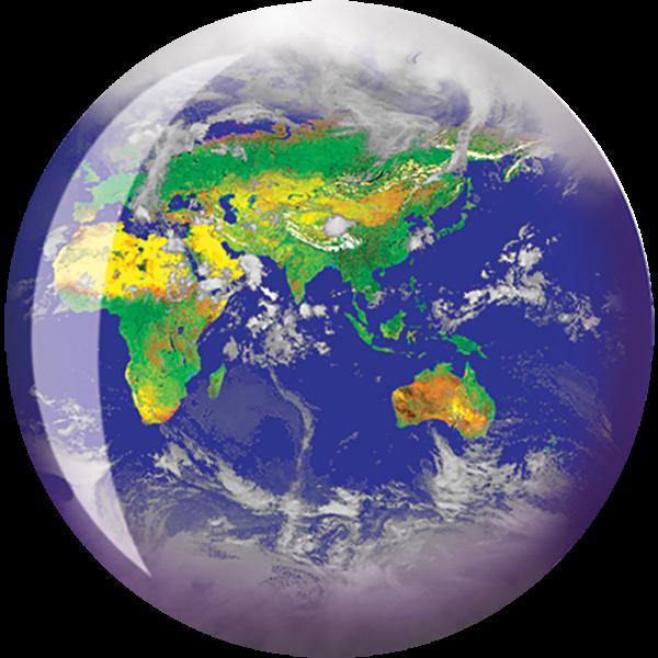 Front of World Viz-A-Ball