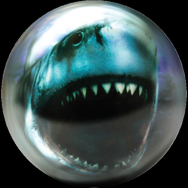Front of Shark Viz-A-Ball showing shark mouth