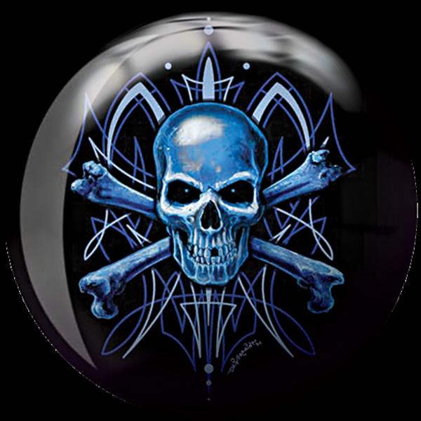 Front side of Skull Viz-A-Ball