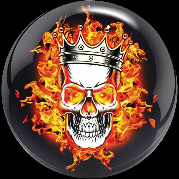 Viz-A-Ball Flaming Skull