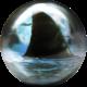 Back of Shark Viz-A-Ball showing shark fin, for Shark (thumbnail 2)