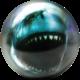 Front of Shark Viz-A-Ball showing shark mouth, for Shark (thumbnail 1)
