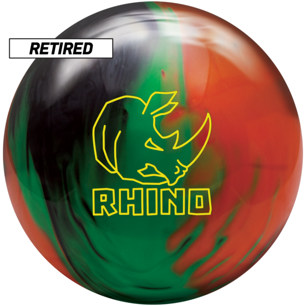 Retired Rhino Black Green Orange Pearl ball