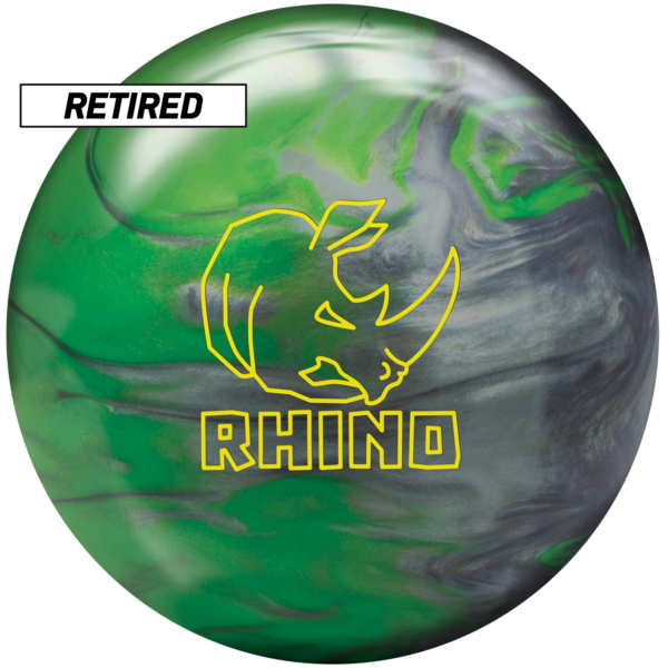 Retired Rhino Green Silver Pearl ball