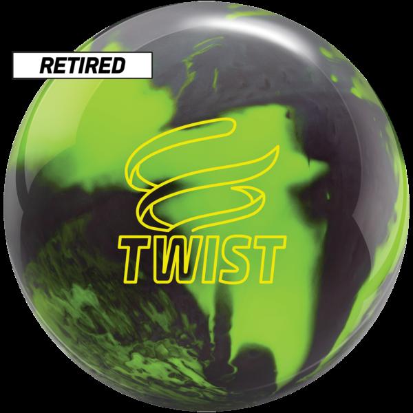 Retired twist neon green bowling ball