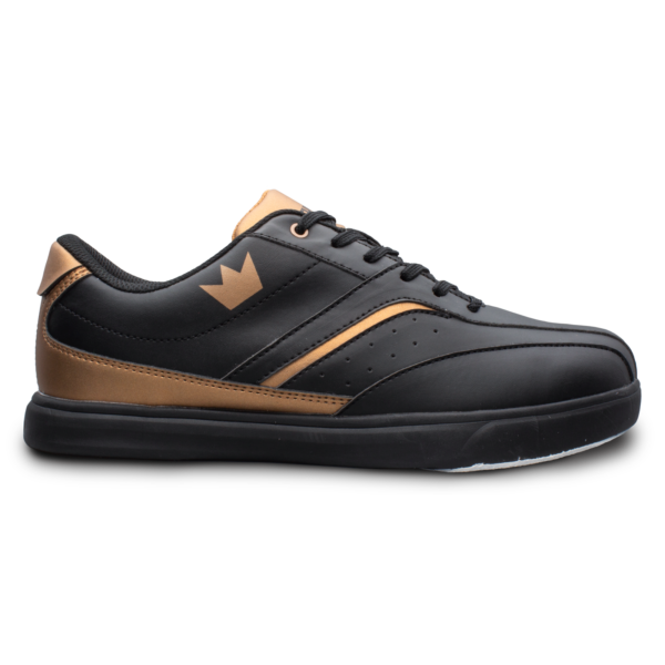 Side view of the Black and Copper Vapor shoe