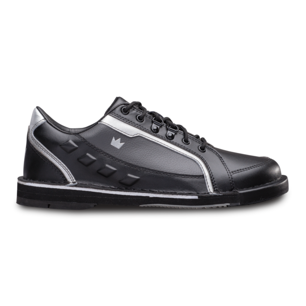 Side view of the Black and Silver Punisher shoe
