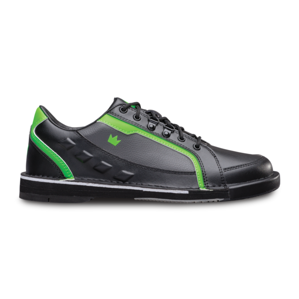 Side view of the Black and Neon Green Punisher shoe