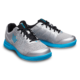 Pair of Silver and Sky Blue Fuze shoes facing right, for Fuze - Silver / Sky Blue (thumbnail 6)