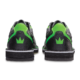 Heel view of the Black and Neon Green Punisher shoes, for Punisher - Black / Neon Green (thumbnail 5)