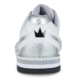 Heel view of the White Phantom shoe, for Phantom - White / Silver Carbon Fiber (thumbnail 4)