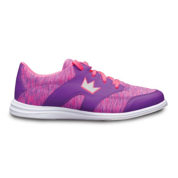 Side view of the Purple and Pink Karma Sport shoe