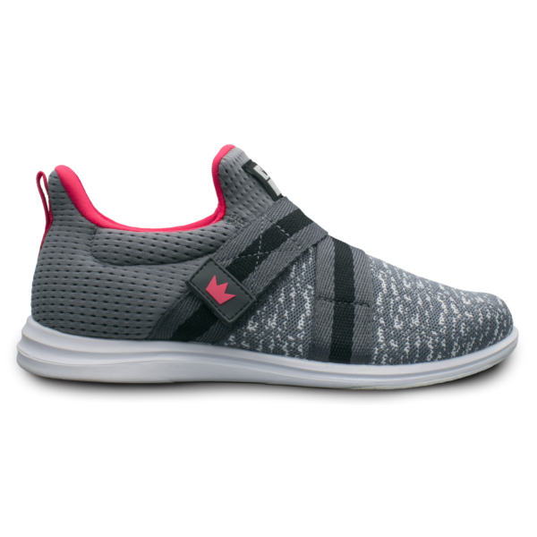 Inner side view of the Grey and Pink Versa shoe