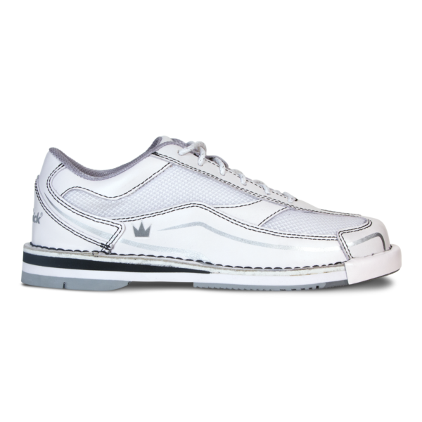 Side view of the Women's White Team Brunswick shoe