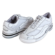 Pair of Women's White Team Brunswick shoes facing heel to toe, for Women's Team Brunswick - White (thumbnail 5)