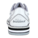 Heel view of the Women's White Team Brunswick shoe, for Women's Team Brunswick - White (thumbnail 3)
