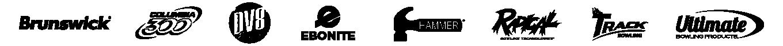 Eight Brunswick brand logos