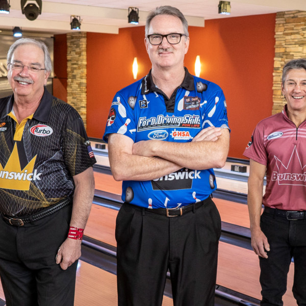 Legends of the Crown Pro Staff standing on Lanes