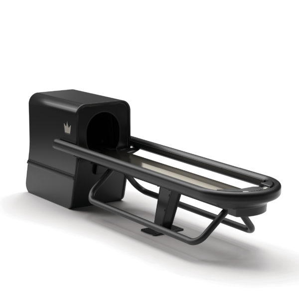Subway ball return in black with ball rack