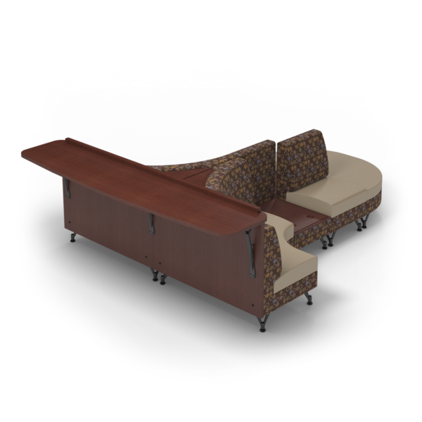 Center Stage Seating Curvy Sides with Modwall. Amuse Mocha & Sand