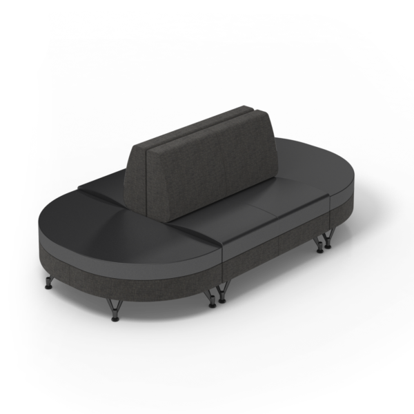 Center Stage Sectional. Cloth Taiga & Black
