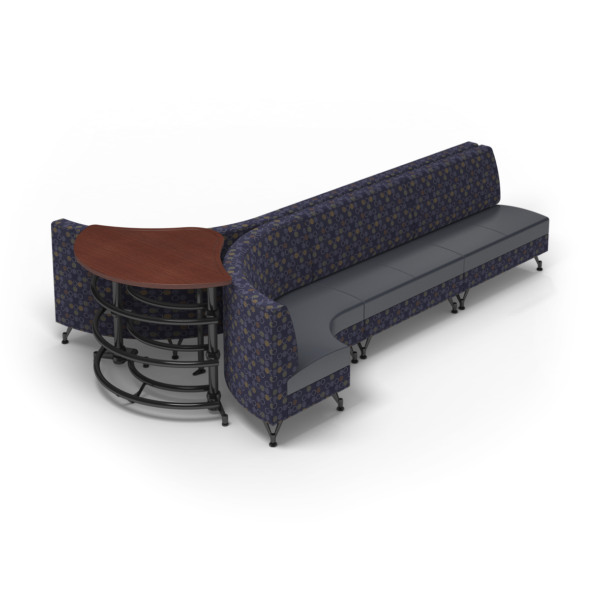Center Stage Lounge with Ball Rack. Amuse Admiral & Imperial Blue