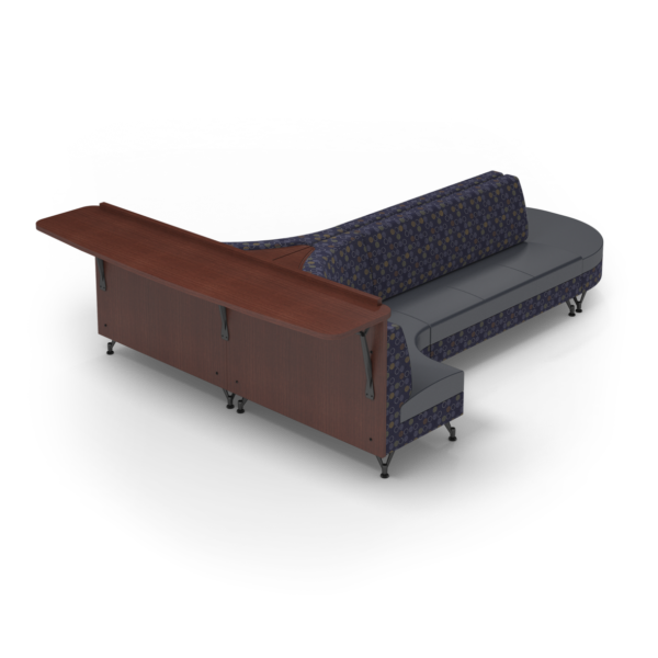 Center Stage Seating with Modwall. Amuse Admiral & Imperial Blue