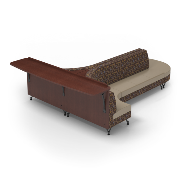 Center Stage Seating with Modwall. Amuse Mocha & Sand