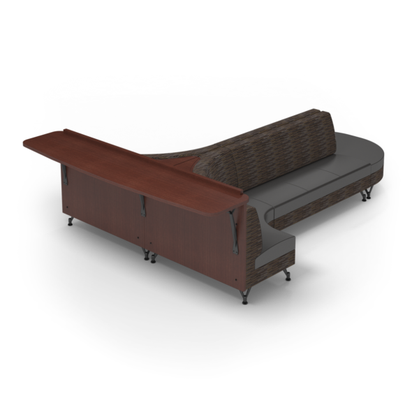Center Stage Seating with Modwall. Strut Pepper & Espresso