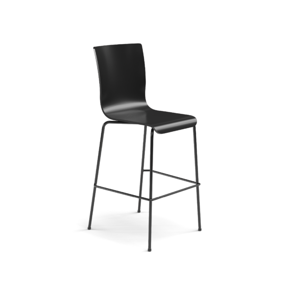 Center Stage Barstool. Witchcraft Plyform with Black Weldment