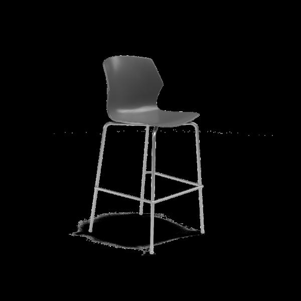 Center Stage Barstool. Road Plastic Barstool with Titanium Weldment