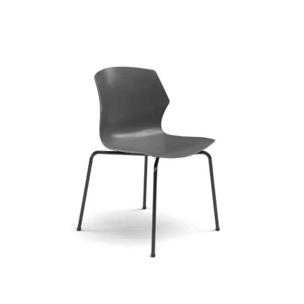 Center Stage Table Height Chair, Road Plastic Bucket Seat with with Black Weldment