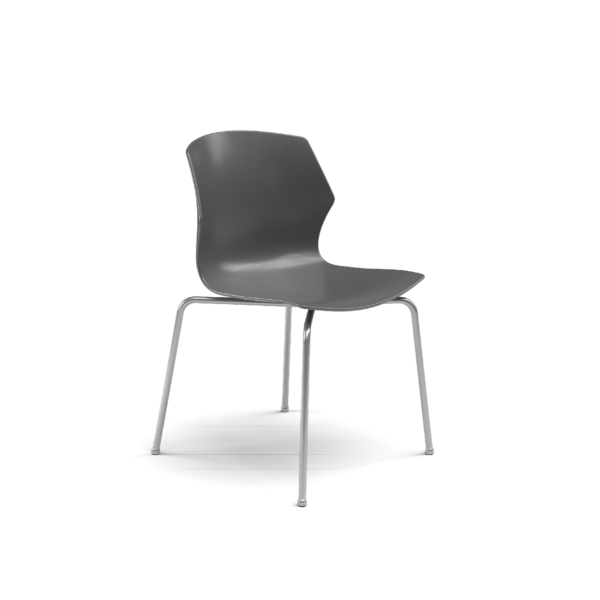 Center Stage Table Height Chair, Road Plastic Bucket Seat with Titanium Weldment