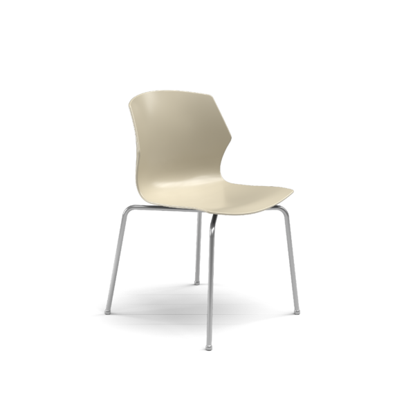 Center Stage Table Height Chair, Sandy Plastic Bucket Seat with Titanium Weldment